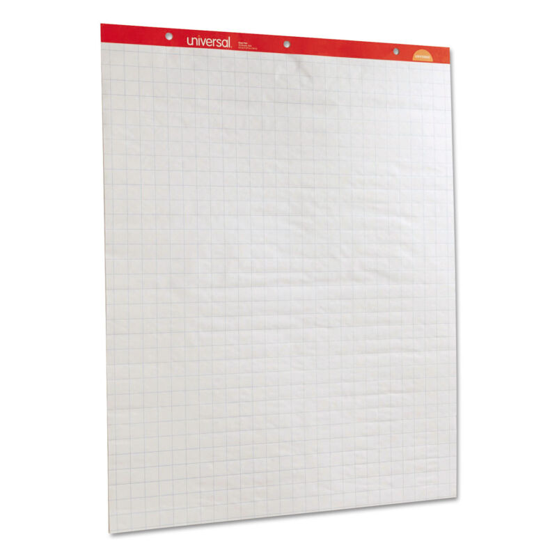 Universal Deluxe Sugarcane Based Easel Pads 27 x 34 White 50 Sheet 2/Pack 45601