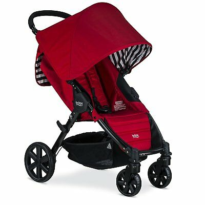 Britax Pathway Stroller in Cabana Red Color Brand New! Free