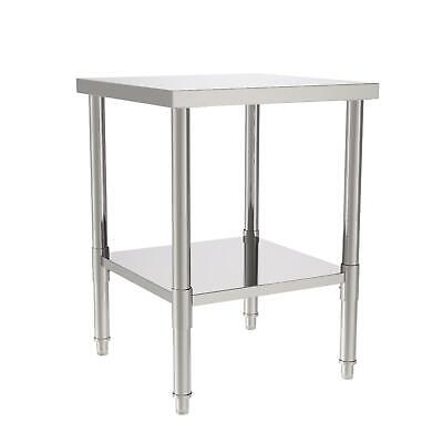24x24x32 Kitchen Stainless Steel Food Prep Work Table Silver