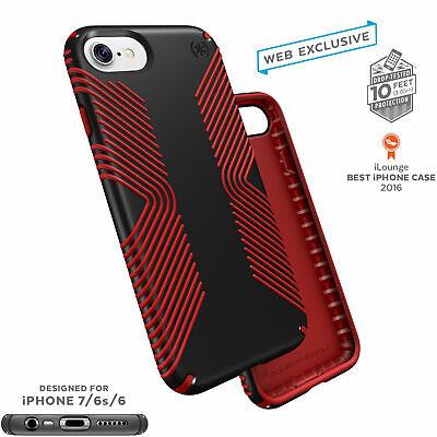 Speck Presidio Grip Classic Edition iPhone 7 Cases Black/Dark Poppy Red Classic Cell Phone Case