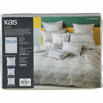 "KAS Australia Luxury ""MOIRE"" Queen Duvet Cover Set (inclu 2 pillow cases), new"