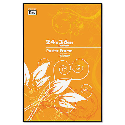 Dax Coloredge Poster Frame Clear Plastic Window 24 x 36 Black N16024BT