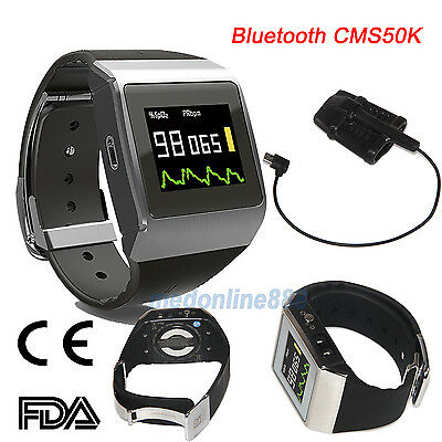 Bluetooth Oled Wrist Pulse Oximeter Spo2ecg Pedometer Monitor 24 Hours Record