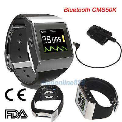 Bluetooth Oled Wrist Pulse Oximeter Spo2ecg Pedometer Monitor 24 Hours Record