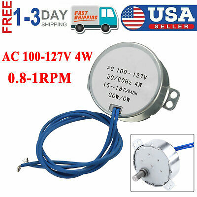 Ccwcw Direction 4w 5060hz Frequency 0.8-1rpmmin Synchronous Motor Ac 100-127v