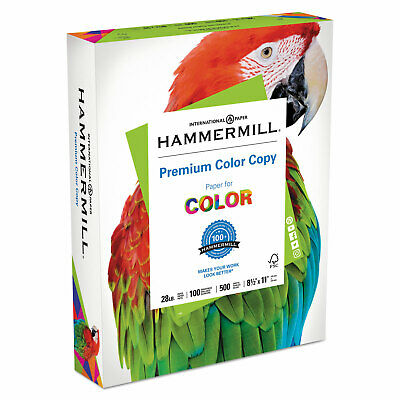 Hammermill Copy Paper 100 Brightness 28lb 8 12 X 11 Photo White 500ream 102467