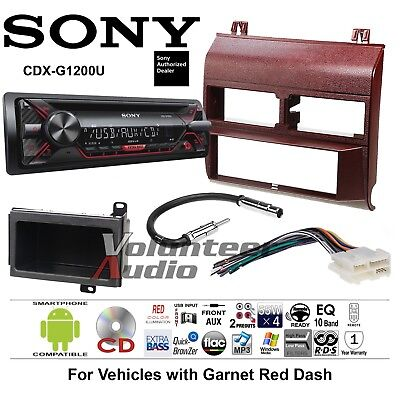 Sony CD Player Red GM Truck Car Stereo Replacement Package Harness Antenna 1991 Chevrolet K3500 Replacement