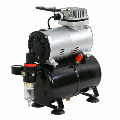 HP Airbrush Air Tank Compressor Regulator Filter Hose 3L Tank 1450-1750 RPM 1/5