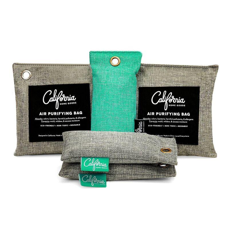 5-pack Bamboo Charcoal Air Purifying Bags, Odor Deodorizer & Car Air Freshener