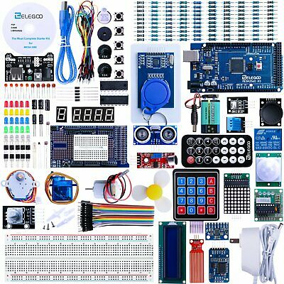Elegoo Mega 2560 Starter Kit For Arduino Uno R3 Power Supply Board Chip Complete