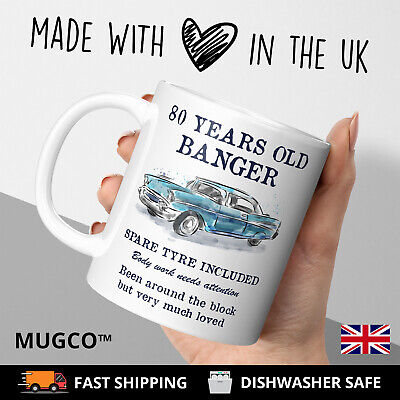 80 Th Birthday Ideas (80th Birthday Dad Mug funny banger cheeky gift idea husband father happy)