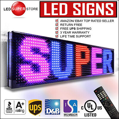 Led Super Store 3colrbpir 22x60 Programmable Scrolling Emc Display Msg Sign