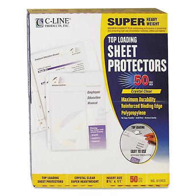 C-line Super Heavyweight Polypropylene Sheet Protector Clear 2 11 X 8 12 50bx