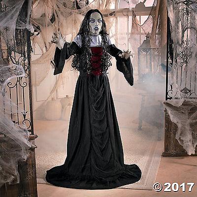 Life Size Female Vampire 5' Ft Halloween Haunted Decoration LED Eyes ON SALE! - Female Vampires Halloween