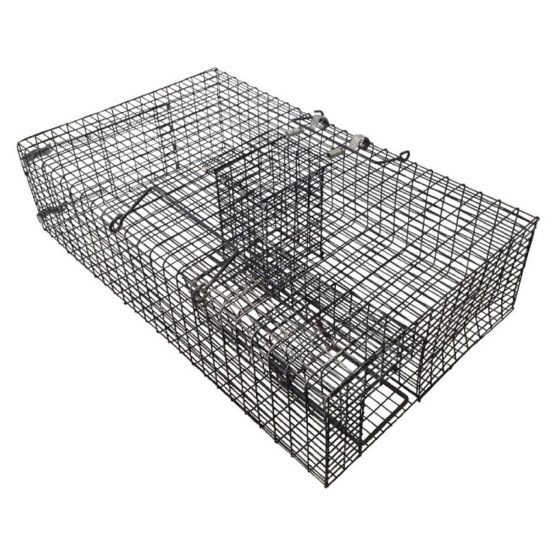 Rugged Ranch  Ratinator Live Rat Squirrel Chipmunk Metal 2 Door Trap Cage (Used)
