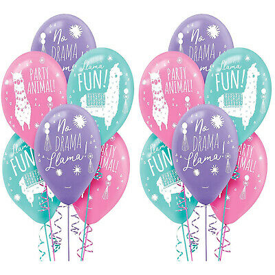 Llama Fun Latex Balloons Birthday Decoration Party Favor Supplies ~ 12ct - Llama Birthday