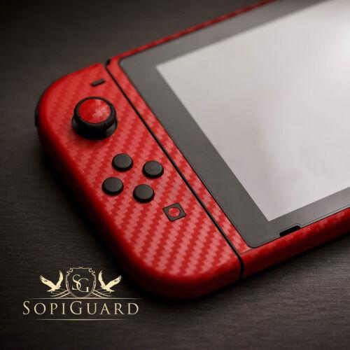 SopiGuard 3M Avery Carbon Fiber Brushed Skin Full Wrap for Nintendo Switch