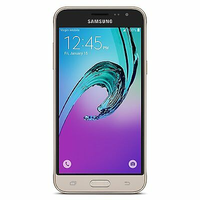New  Samsung Galaxy J3 5 0  16Gb Virgin Mobile 4G Lte Prepaid Smartphone Sealed