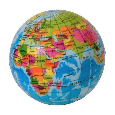 Softspringball Globus aus Schaumstoff Ball Erde Weltkugel Welt Springball