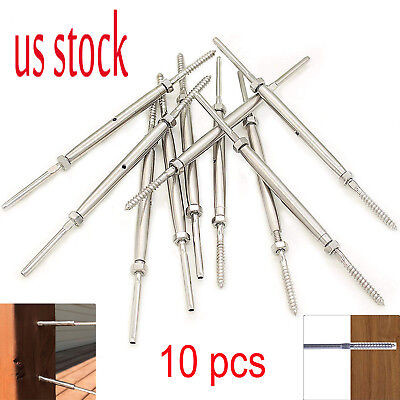Lag Screw Swage Turnbuckle For 18 Cable Deck Stair Railingstainless Steel 10