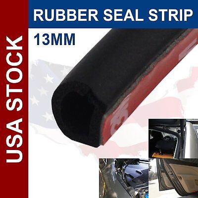 "144"" Door Seal Rubber Trim Strip Bulb Black Auto Parts Edge Guard Car Accessory"