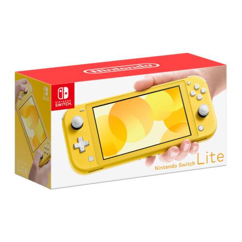 Nintendo+Switch+Lite+Handheld+Gaming+Console+Yellow+-+Brand+New