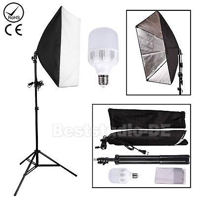 LED 25W Softbox Studioleuchte Fotostudio Studiolampe Fotolampe Set Tageslicht