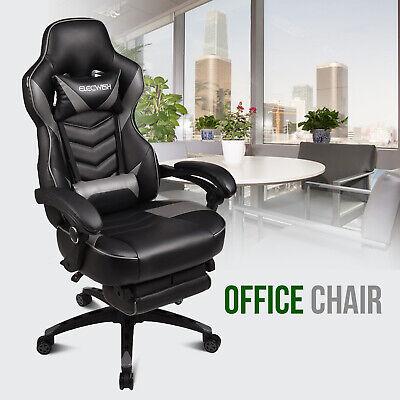 High Back Office Chair Ergonomic Recliner Pu Leather Computer Desk Task Chair