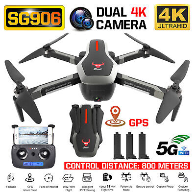 SG906 GPS Brushless 4K Drone with Camera Handbag 5G Wifi FPV RC Quadcopter HOT