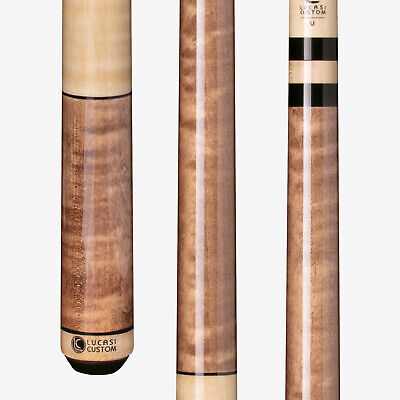 Lucasi LZC2 Pool Cue Stick Antique Curly Maple and Nautral C