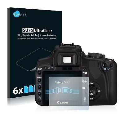 6x Displayschutzfolie für Canon EOS 400D Schutzfolie Klar Folie Displayfolie
