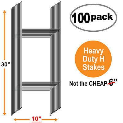 100 Bundle Of 10 X 30 H Wire Step Stakes For Corrugated Yard Sign Holder Stand