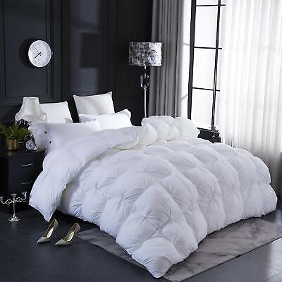 Pinch Pleat Design White Goose Down Comforter Duvet Insert Queen size 100%Cotton ()