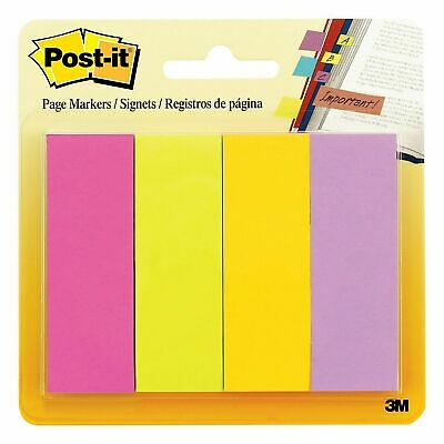 Post-it Page Markers 78 X 2 78 Assorted Colors 200 Sheets 671-4au 670083