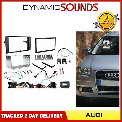 Alpino Doble din Carcasa Dirección Kit Accesorios Estéreo Coche para Audi A3