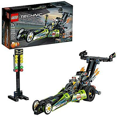 LEGO Technic Dragster 42103 Pull-Back Racing Toy Building Kit, New 2020 (225