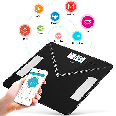 400LB Bluetooth Body Fat Weight Scale Electronic Smart LCD Fitness Analyzer APP