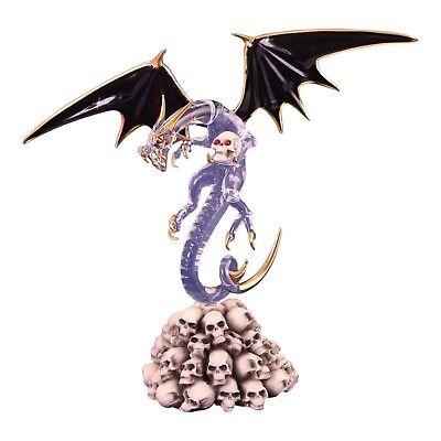Glass Baron Dragon Bone Crusher Glass Figurine Accented with Swarovski Crystal