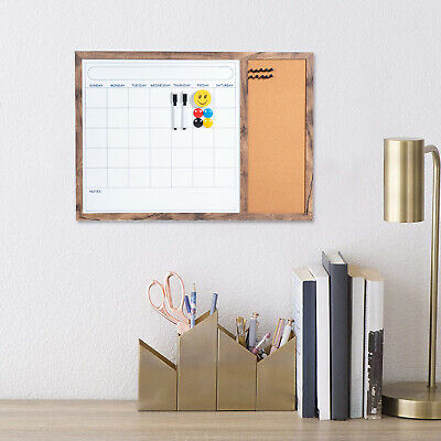 Magnetic Dry Erase Calendar Board Wall Whiteboard Corkboard Planner Entryway