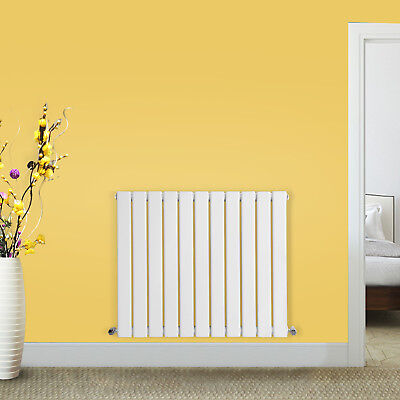 Horizontal Flat Panel Designer Modern White Bathroom Radiator 600 x 748 mm