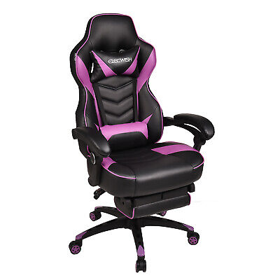 High Back Gaming Chair Pu Leather Ergonomic Swivel Racing Chair For Home Office