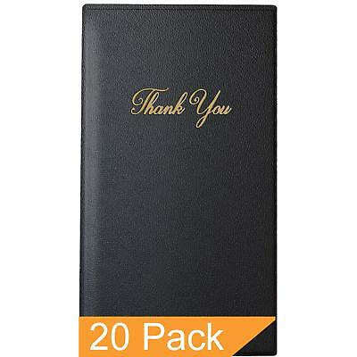 Guest Check Card Holder - Presenter With Gold Thank You Imprint - 5.5 X 10