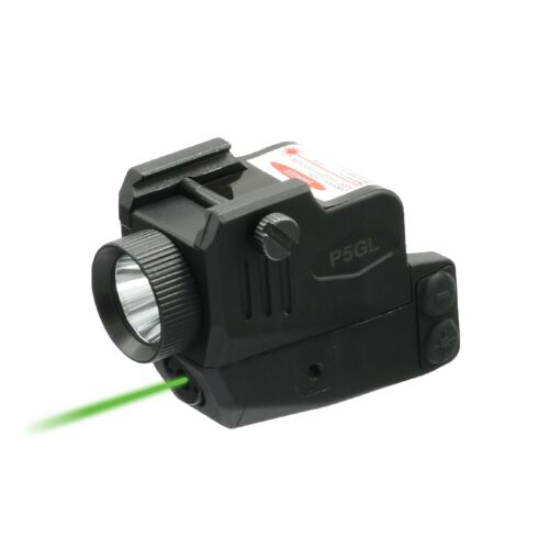 Low Profile P5GL Green Laser Sight Light Combo for Sub-compact Pistols w/USB