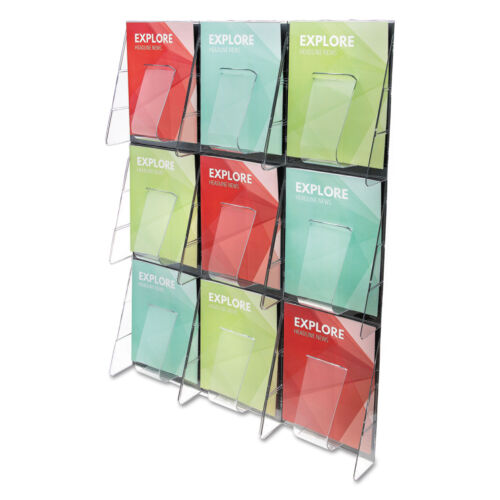 deflecto 9-Pocket Wall Mount Literature Racks 56801