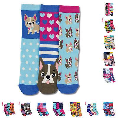 bunte Socken Frauen verrückte Damen Strümpfe Gr.37-42 Hunde Flamingo Katzen bunt