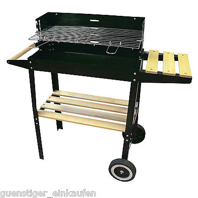 Grill Kynast Barbecue Cart with Storage Space Roll Grid Standing Deluxe