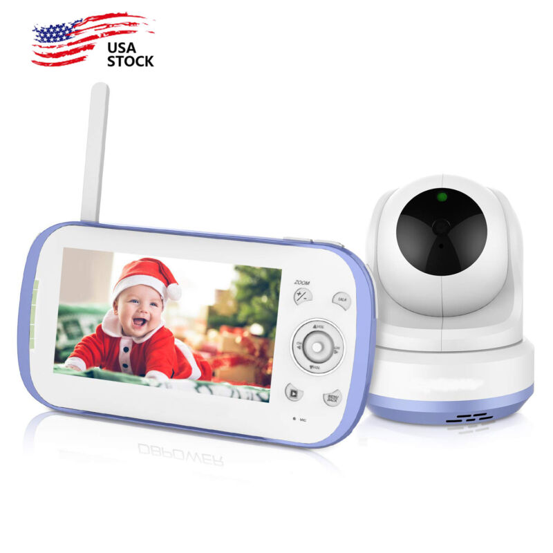 """DBPOWER Baby Monitor with 4.3"""" Split Screen Sound Activated Video Record US"""