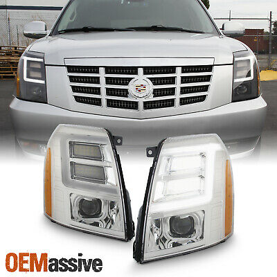 For 2007-2014 Cadillac Escalade LED DRL Projector Headlights [Xenon/HID] Lights