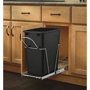Pull Out Trash Can Ebay Rh Com Outdoor Kitchen Cans With Lids