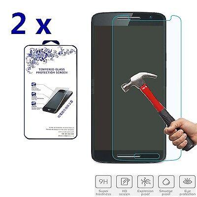 2x For Motorola Moto X Disparage /Droid MAXX2 Premium Tempered Glass Screen Protector